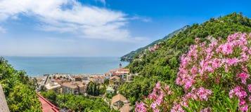 Postcard view of Amalfi Coast, Campania, Italy Stock Images