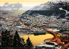 Postcard with view from the city Royalty Free Stock Photography