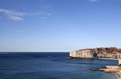Postcard view of Dubrovnik Royalty Free Stock Photography