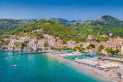 Postcard view of Minori, Amalfi Coast, Campania, Italy Royalty Free Stock Images