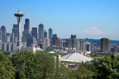 Postcard view of Seattle Royalty Free Stock Images