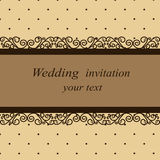 Postcard in vintage style. Invitation card in vintage style. Wedding invitation. Vector illustration Stock Image