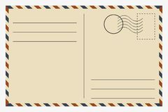 postcard vintage template vector royalty free stock images