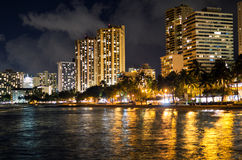 Postcard from Waikikki  Honolulu Hawaii Stock Image