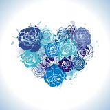 Postcard With Floral Heart Stock Photography