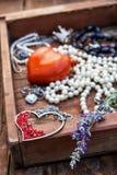 Postcard with women's jewelry trinkets Royalty Free Stock Photo