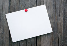 Postcard on wooden boards Royalty Free Stock Photo