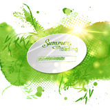 Postcard with the words Summer  loaded on green Stock Photos