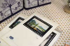 Postcards. All kinds of beautiful postcards Stock Photo