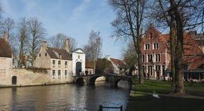 Postcards of Bruges beguinage 5 stock photo