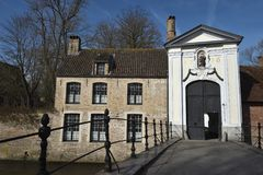 Postcards of Bruges beguinage 10 Royalty Free Stock Image