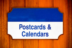 Postcards and calendars sign Royalty Free Stock Images
