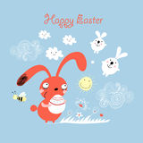 Postcards from the Easter bunny Stock Image