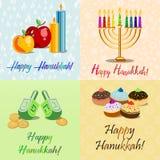 Postcards for Festival of Lights Hanukkah Stock Photos