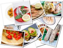 Postcards of food Stock Image