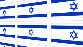 Postcards with Israel national flag Stock Photo