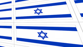 Postcards with Israel national flag Stock Photos