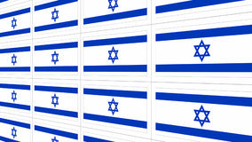 Postcards with Israel national flag Royalty Free Stock Photos