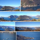 Postcards of Lake Iseo set in the Brescia mountains - Italy 01 Royalty Free Stock Photos