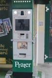 Postcards machine in Prater park, Vienna royalty free stock photos