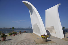 Postcards 9/11 memorial in Staten Island Royalty Free Stock Photos