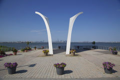 Postcards 9/11 memorial in Staten Island Royalty Free Stock Images
