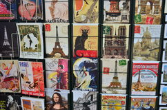 Postcards of Paris. In France royalty free stock photos