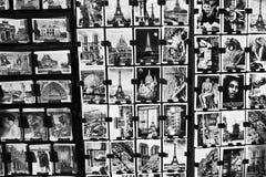 Postcards from Paris. A Postcard Display Outside of a Paris Souvenir Shop stock photos