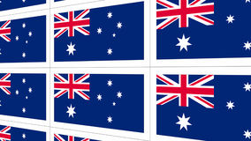 Postcards sheet with Australia national flag Stock Photography