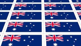 Postcards sheet with Australia national flag Royalty Free Stock Photos