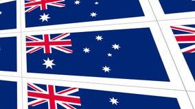 Postcards sheet with Australia national flag Stock Photos