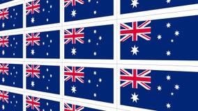 Postcards sheet with Australia national flag Stock Image