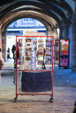 Postcards stand Bruges, Belgium Stock Images