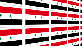 Postcards with Syria national flag Stock Images