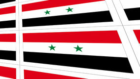 Postcards with Syria national flag Royalty Free Stock Photo