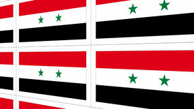 Postcards with Syria national flag Royalty Free Stock Images