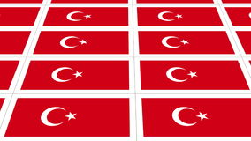 Postcards with Turkish national flag looped stock video footage