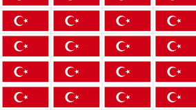 Postcards with Turkish national flag looped stock video