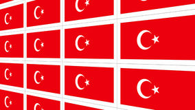 Postcards with Turkish national flag Royalty Free Stock Photo