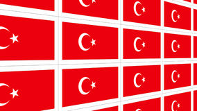 Postcards with Turkish national flag Stock Image