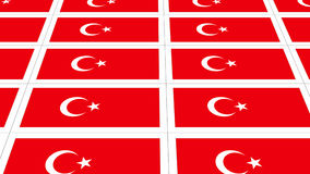 Postcards with Turkish national flag Royalty Free Stock Photography