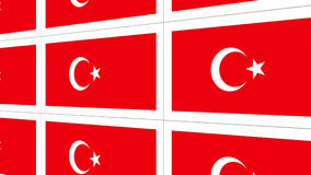 Postcards with Turkish national flag Stock Photos