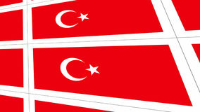 Postcards with Turkish national flag Stock Photography