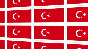 Postcards with Turkish national flag stock video