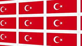 Postcards with Turkish national flag stock video footage