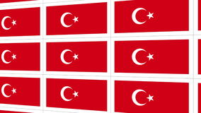 Postcards with Turkish national flag stock footage