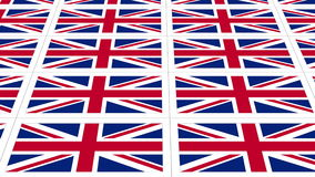 Postcards with United Kingdom national flag looped stock video