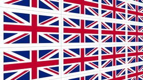 Postcards with United Kingdom national flag looped stock video footage