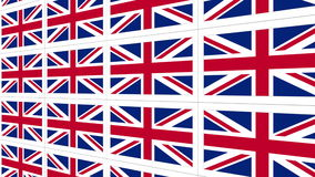 Postcards with United Kingdom national flag looped stock footage