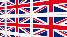 Postcards with United Kingdom national flag Royalty Free Stock Image